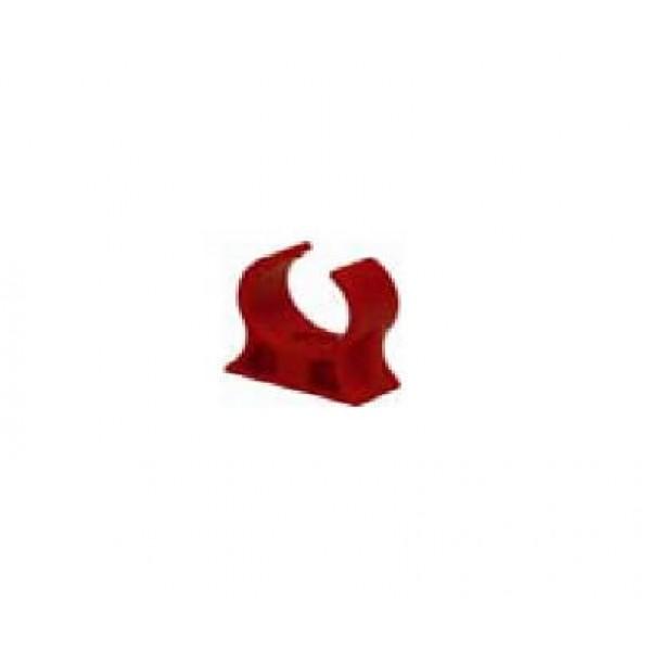 Agrafe pentru Fixare tevilor cu diametrul de 25mm,culoare rosie, abr SD3