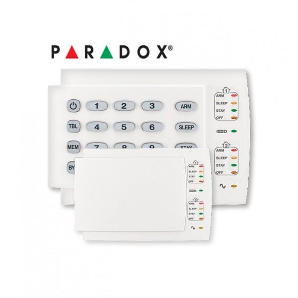 Tastatura Antiefractie LED pe Fir 10 Zone, orizontala PARADOX k10h
