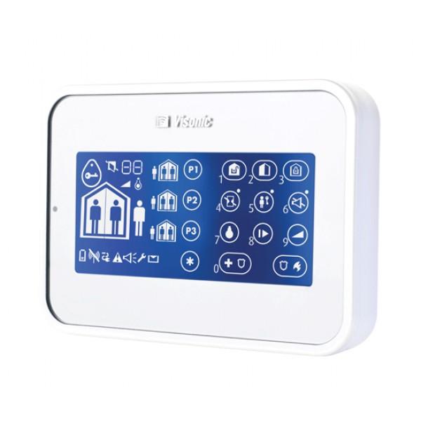 Tastatura Wireless Antiefractie pentru armare alba Visonic kp-160-numeric-PG2-white